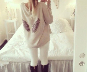 fashion, style, and wings image
