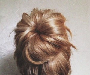blond, bun, and grunge image