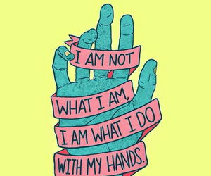 hand, quote, and hands image