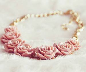 necklace, fashion, and rose image