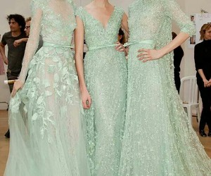 elie saab, mint dress, and haute couture image