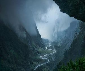 nature, dark, and landscape image