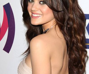beautiful hair, cute, and lucy hale image