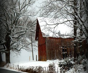 barns, house, and winter image
