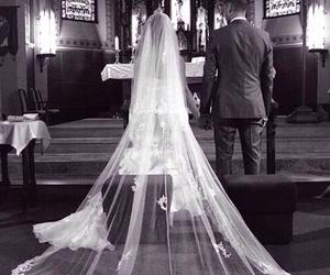 wedding, church, and couple image