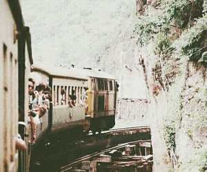train, vintage, and travel image