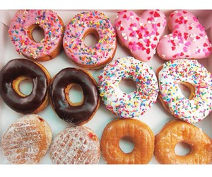 chocolate, donuts, and sweet image