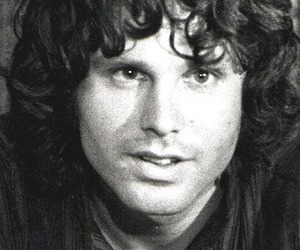 black and white, Jim Morrison, and the doors image