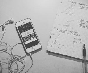 iphone, music, and homework image