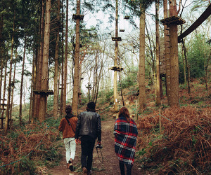forest, nature, and friends image
