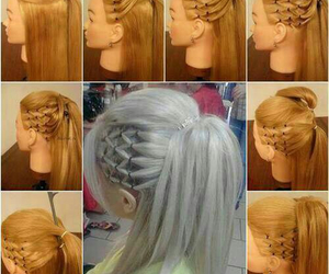 blond, cool, and hair style image
