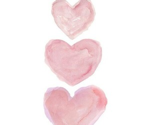 hearts, watercolor, and love image