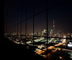 city, lights, and night image