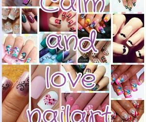 color, nailart, and love image