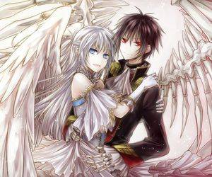 anime, angel, and couple image