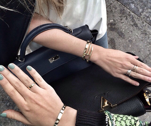 bag, bracelet, and cartier image