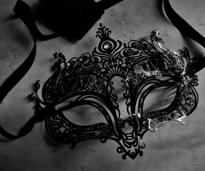 mask, black, and masquerade image