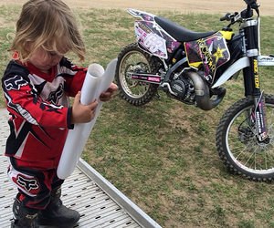 child, motocross, and jolene van vugt image