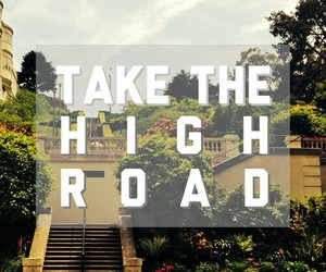 road, quote, and high image
