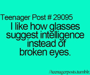funny, glasses, and teenager post image