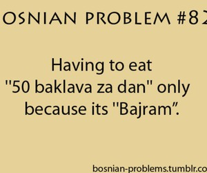 baklava, bajram, and text image