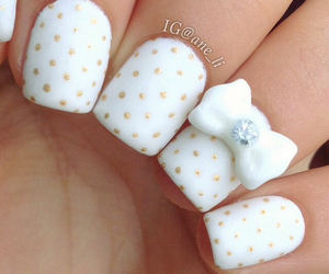 nail art, white, and point image