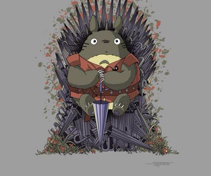 totoro, anime, and game of thrones image