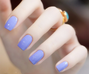 nails, purple, and blue image