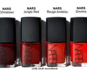 nailpolish, nars, and red image