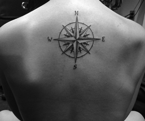 compass, ink, and tattoo image