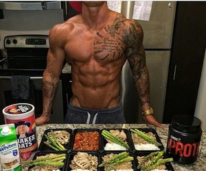 fitness, food, and sexy image