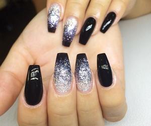 black, nail art, and nails image