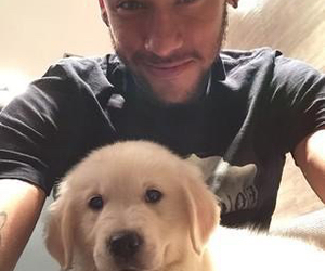 neymar, dog, and neymar jr image