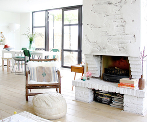 design, fireplace, and home image
