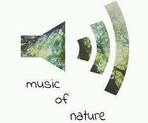 nature, music, and green image