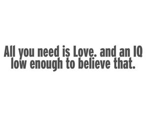 love, iq, and quote image