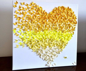 butterfly, yellow, and art image