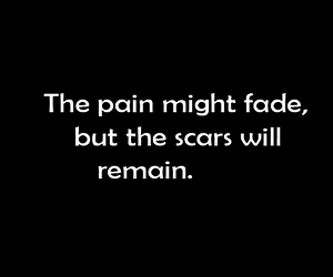 pain, scars, and depressed image
