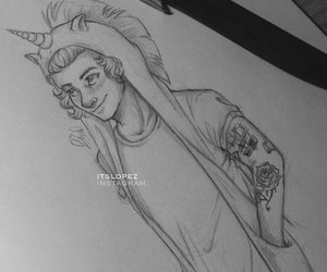 one direction, Harry Styles, and draw image