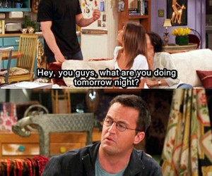 friends, chandler, and tv image