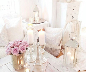 interior, pink, and white image