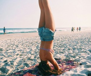 beach, freedom, and summer image
