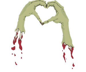 zombie and heart image