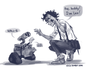 leo valdez, wall-e, and percy jackson image