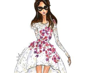 fashion, dress, and drawing image