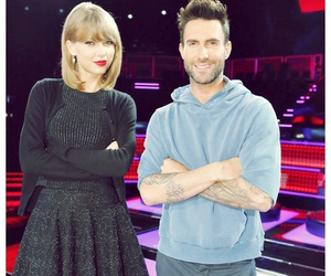 Taylor Swift, adam levine, and the voice image