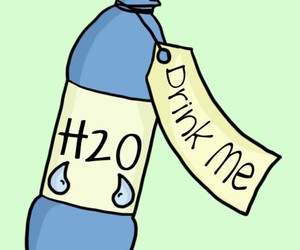 agua, drink me, and H2o image