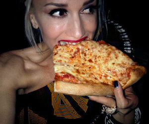 eating, pizza, and girl image