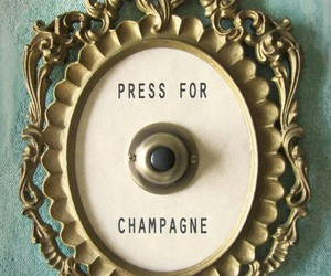 champagne, funny, and gold image