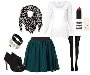 outfit, skirt, and scarf image